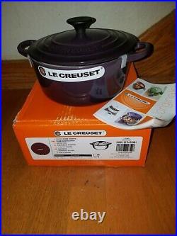 Le Creuset Cassis Round Dutch Oven 2.0 Quart