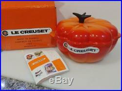 Le Creuset Cast-Iron 2.25 Quart Pumpkin Casserole, Flame Orange NEW