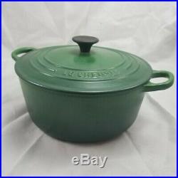 Le Creuset Cast Iron 3.5 Quart Green Dutch Oven #22