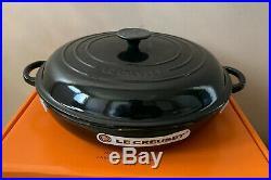 Le Creuset Cast Iron 30cm Shallow Casserole Black Onyx (BNIB)