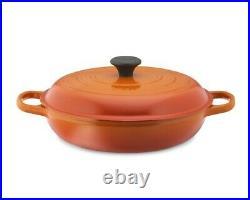 Le Creuset Cast Iron Braiser, 5 qt, Flame-Retails $450