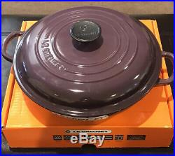 Le Creuset Cast Iron Classic Braiser Cassis Purple 2.25 Quart #26 New In Box