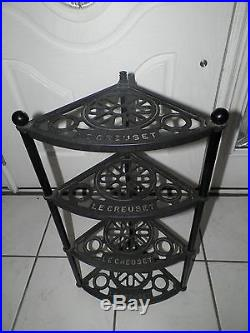 Le Creuset Cast Iron Corner Shelf With Four Shelves Black