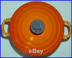 Le Creuset Cast Iron Dutch Oven 2Qt B FLAME EXCELLENT Red Orange Ombré #18