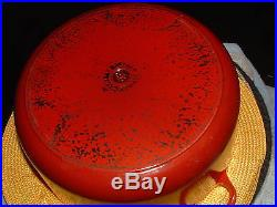 Le Creuset Cast Iron Dutch Oven 7 1/4 Qt. Size 28 Cherry Red with Lid