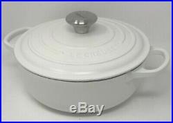 Le Creuset Cast-Iron Essential Oven, 3 1/2-Qt, Matte White