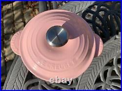 Le Creuset Cast Iron Rice Pot 2.25 Qt 18 Chiffon Pink No Inner Lid