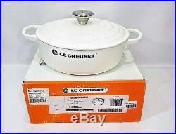 Le Creuset Cast Iron Round 3.5 Quart Signature White Risotto Dutch Oven NIB