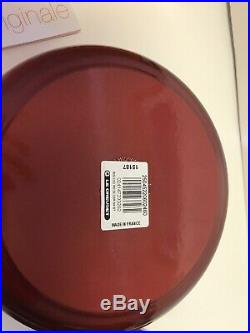 Le Creuset Cast Iron Round Casserole/dutch Oven 2 3/4 Quart Cherry Red Nib