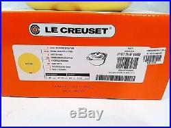 Le Creuset Cast Iron Round Dutch Oven 5.5 Quart Mimosa Yellow Matte RARE NIB NEW