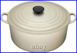 Le Creuset Cast-Iron Round Dutch Oven-(Dune) Almond-5 1/2-Qt-5.5 Qt-Retail $450