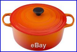 Le Creuset Cast-Iron Round Dutch Oven-(Flame)-5 1/2-Qt-5.5 Qt-Retail $450