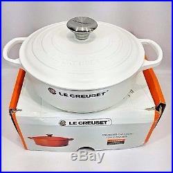 Le Creuset Cast Iron Round Dutch Oven Matte White 3.5 Quart 3 1/2 with Lid NEW NIB