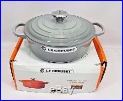 Le Creuset Cast Iron Round Dutch Oven Mist Gray 3.5 Quart 3 1/2 with Lid NEW NIB