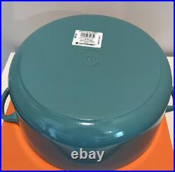 Le Creuset Cast-Iron Round Dutch Oven-Torquiose-5 1/2-Qt-5.5 Qt-Retail $450