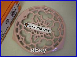 Le Creuset Cast Iron Round Trivet, Chiffon Pink, France, New