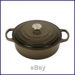 Le Creuset Cast Iron Round Wide Oven 3.5 qt Truffle
