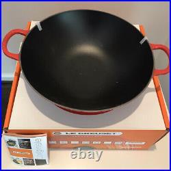 Le Creuset Cast Iron Signature Wok-Cerise-5Qt-Retails $400