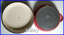 Le Creuset Cherry Red 3.5 Quart #30 Cast Iron Lidded 12 Braiser/Dutch Oven