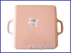 Le Creuset Cocotte Square Pan Signature Enameled Cast Iron Lid 24cm Chiffon Pink