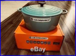 Le Creuset Cool Mint 5-1/2 Qt 5.5 Qt # 26 Round Dutch Oven Authentic NIB