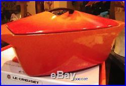 Le Creuset Coquelle 5 Qt Cast Iron Casserole Dish Limited Edition Raymond Loewy