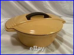 Le Creuset Dutch Oven 23 Futura Line Very Rare Yellow Excellent Condition