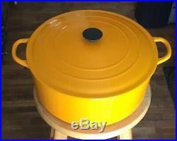 Le Creuset Dutch Oven G Vintage Happy Mustard 7.25 Qt Large 11 Made in France