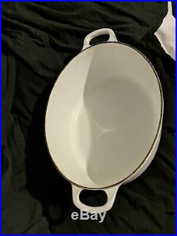 Le Creuset Dutch Oven Oval #31 White Cast Iron France