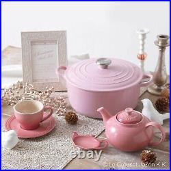 Le Creuset Dutch Oven Signature Cocotte Ronde Cast Iron Round 18cm Chiffon Pink