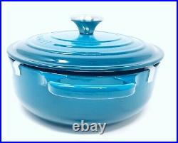 Le Creuset Enamel Cast Iron 3.5 Qt. Round Dutch Oven Deep Teal Brand New In Box