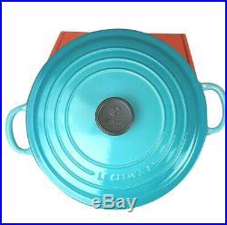 Le Creuset Enamel Cast Iron 5.5 Qt. Round Dutch Oven Caribbean Blue New In Box