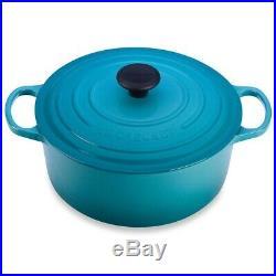 Le Creuset Enamel Cast Iron 5.5 Qt. Round Dutch Oven Caribbean Blue-Retails-$450