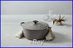 Le Creuset Enamel Cast Iron 5.5 Qt. Round Dutch Oven-Gris (Gray)-Retails-$450