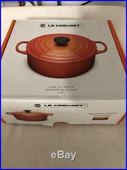 Le Creuset Enamel Cast Iron 5.5 Qt. Round Dutch Oven Marseille Blue BRAND NEW