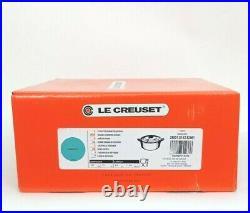 Le Creuset Enamel Cast Iron 7.25 Qt. Round Dutch Oven Turquoise NIB