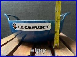 Le Creuset Enamel Cast Iron Balti Black Interior Pot, 2 QT, MARSEILLE Blue