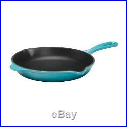 Le Creuset Enameled Cast-Iron 10-1/4-Inch Skillet with Iron Handle, Caribbean