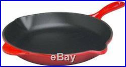 Le Creuset Enameled Cast-Iron 11-3/4-Inch Skillet, (Cerise)-Retails-$260
