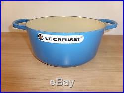 Le Creuset Enameled Cast Iron 5 1/2 Qt Round Casserole French Oven Marseille