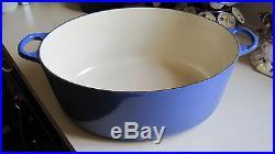 Le Creuset Enameled Cast-Iron 9-1/2-Quart Oval French (Dutch) Oven Cobalt Blue