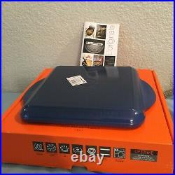 Le Creuset Enameled Cast Iron 9.5 Square Griddle Cobalt/Blue, New With Box