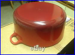 Le Creuset Enameled Cast-Iron 9 Qt 9-Quart Round Dutch Oven, Cherry Red NEW