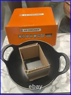 Le Creuset Enameled Cast Iron Balti Dish, Black. New In Box
