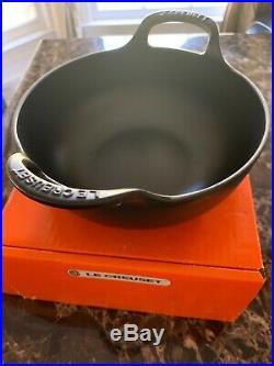 Le Creuset Enameled Cast Iron Balti Dish, Matte Black. New In Box