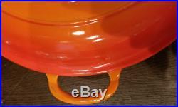 Le Creuset Enameled Cast Iron Braiser Volcanic Flame Red/orange Pot 3.5qt 30cm