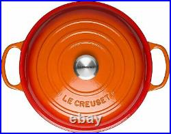 Le Creuset Enameled Cast Iron Signature Braiser, 2.25 qt, Flame