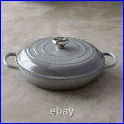 Le Creuset Enameled Cast Iron Signature Braiser, 3.5 qt, Gris Gray