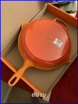 Le Creuset Enameled Cast Iron Signature Iron Handle Skillet, 11.75 in. Flame