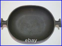 Le Creuset Enzo Mari La Mama Au Gratin #21 Rare MATTE BLACK Cast Iron Pan
